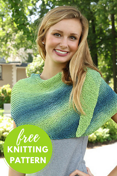 Asymmetric Shawl Free Knitting Pattern