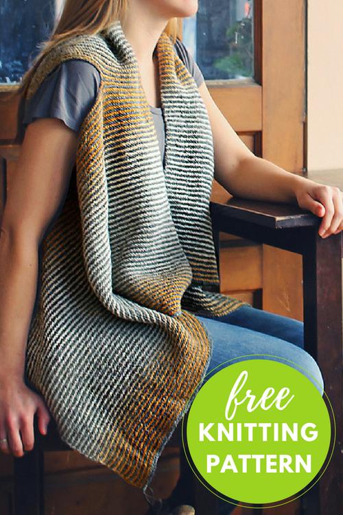 Cascade Vest Free Knitting Pattern