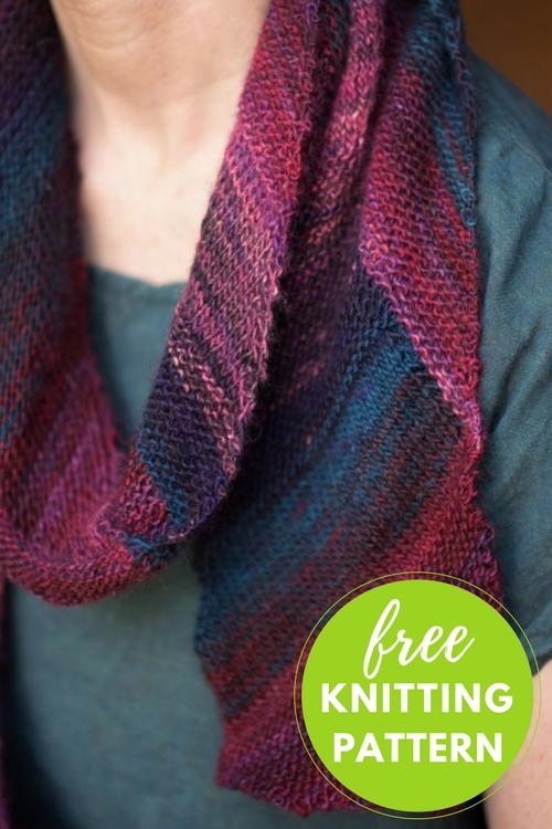 Diagonal Ombre Scarflette Free Knitting Pattern Blog Nobleknits