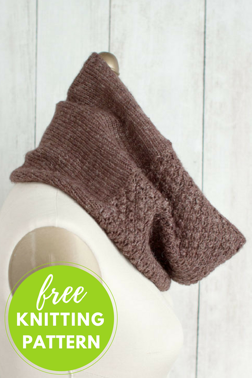 Mitad Cowl Free Knitting Pattern - 1 skein project!