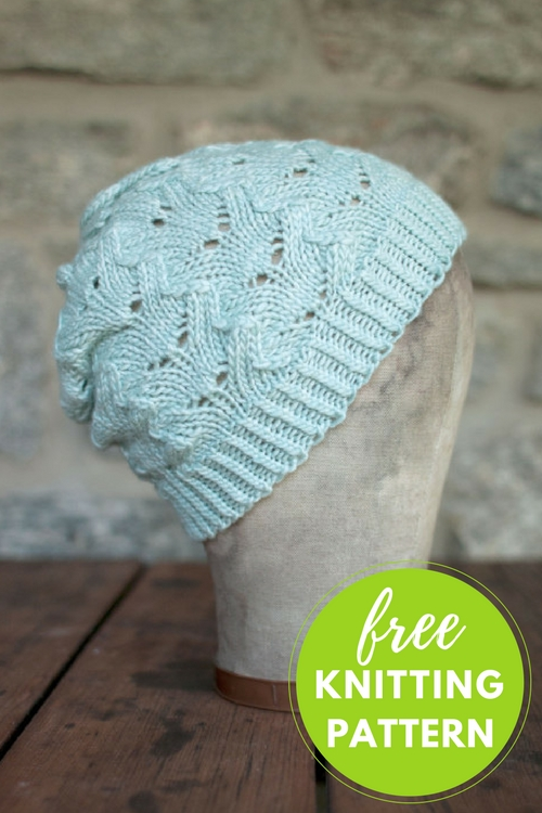 Helado Lace Hat Free Knitting Pattern
