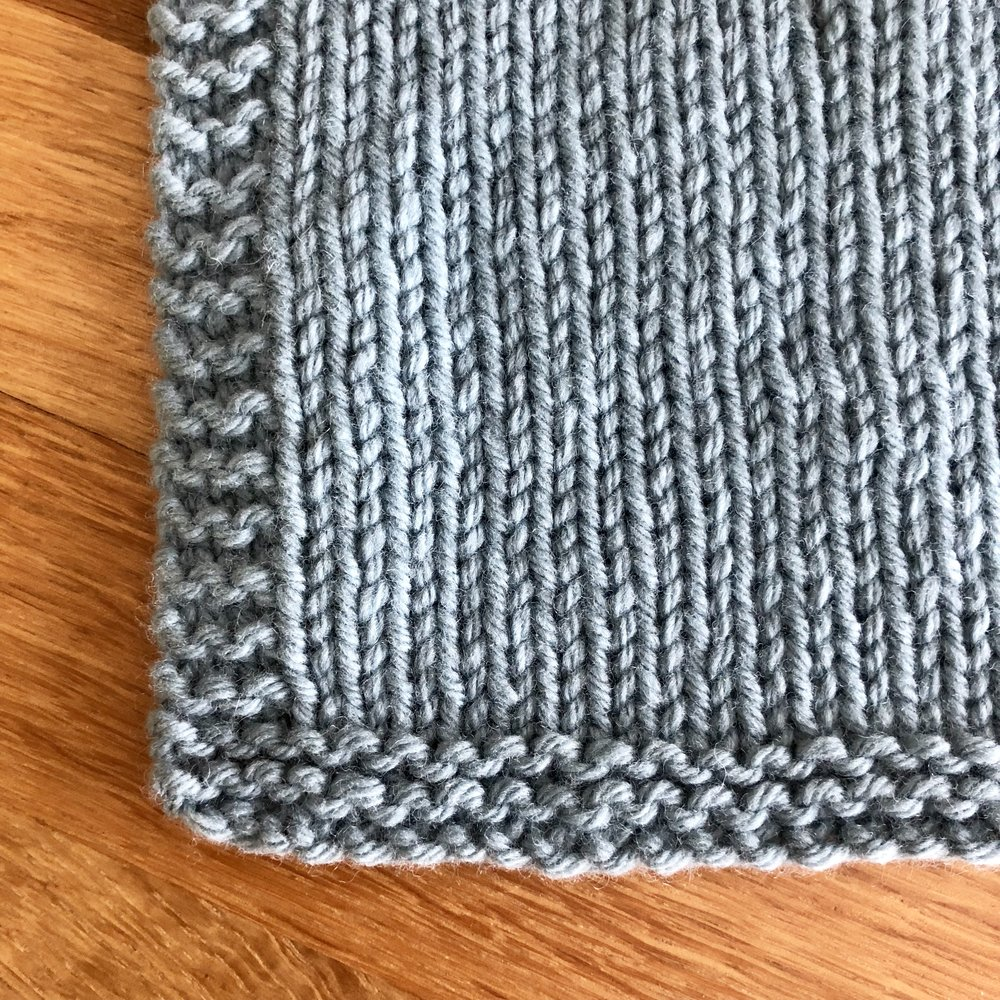 Stockinette Stitch Fabric (RS facing)