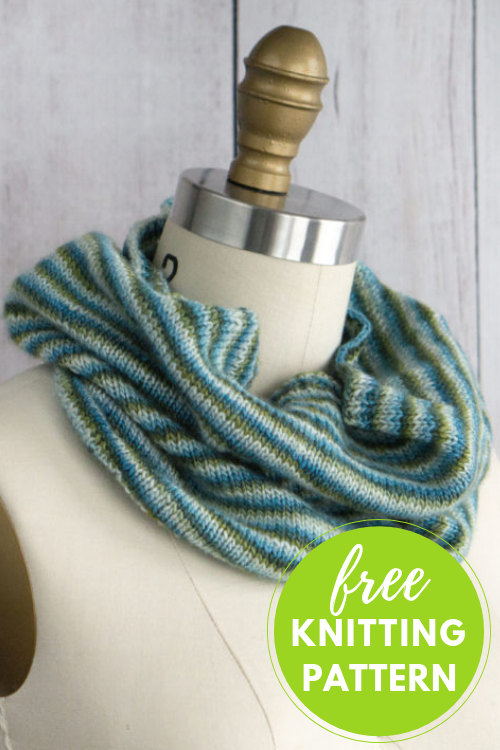 Beginner Knitting! Pirouette Cowl Free Knitting Pattern