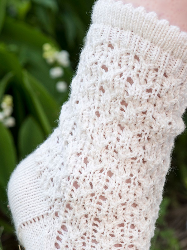 One skein project! Lace Socks Free Knitting Pattern