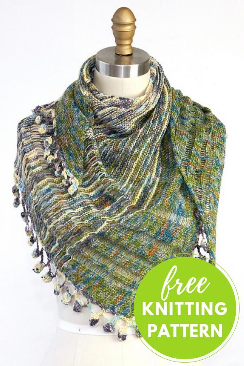 Linen Concerto Lace Shawl Free Knitting Pattern Blogbleknits
