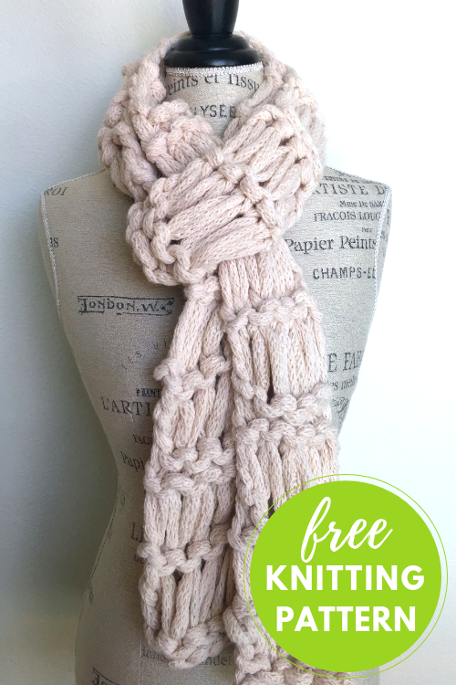 Super Quick Scarf Free Knitting Pattern Blogbleknits