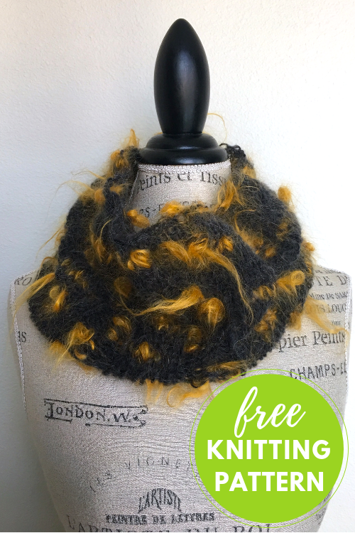 Color Pop Cowl Free Knitting Pattern - Easy One Skein Project!