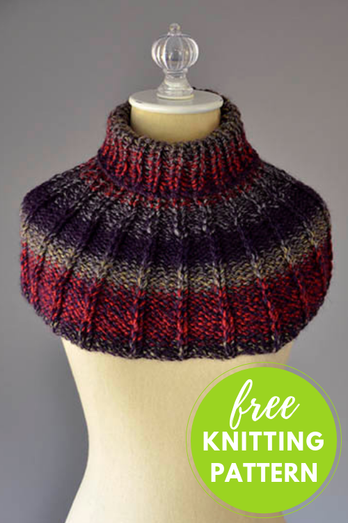 One Skein Project! Collar Cowl Free Knitting Pattern