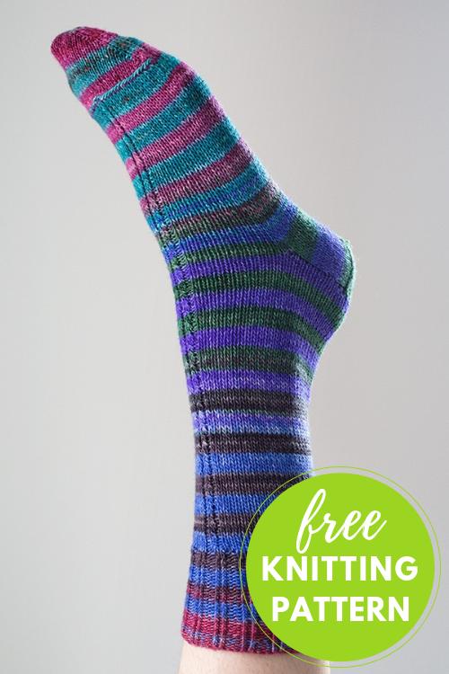 Cable Insert Socks Free Knitting Pattern