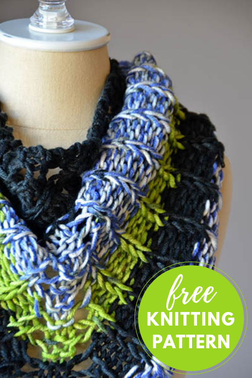 Little Big Shawl Free Knitting Pattern: One Skein Project!