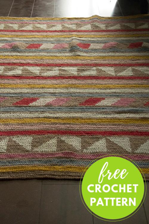 Spring Stripe Rug Free Crochet Pattern