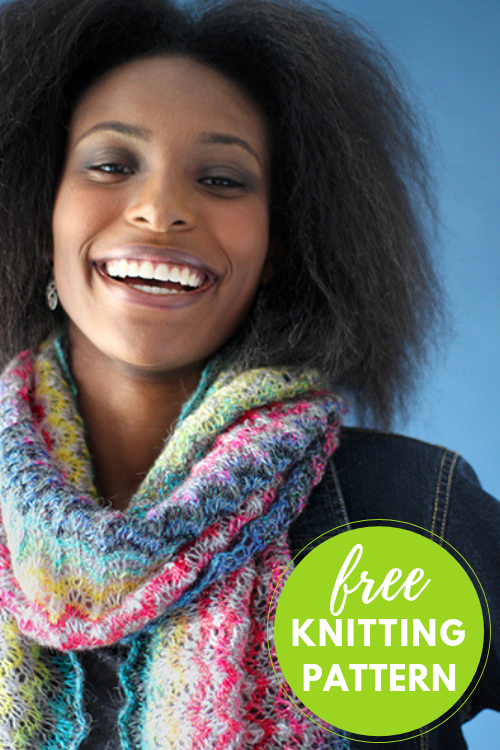 Prism Wrap Free Knitting Pattern