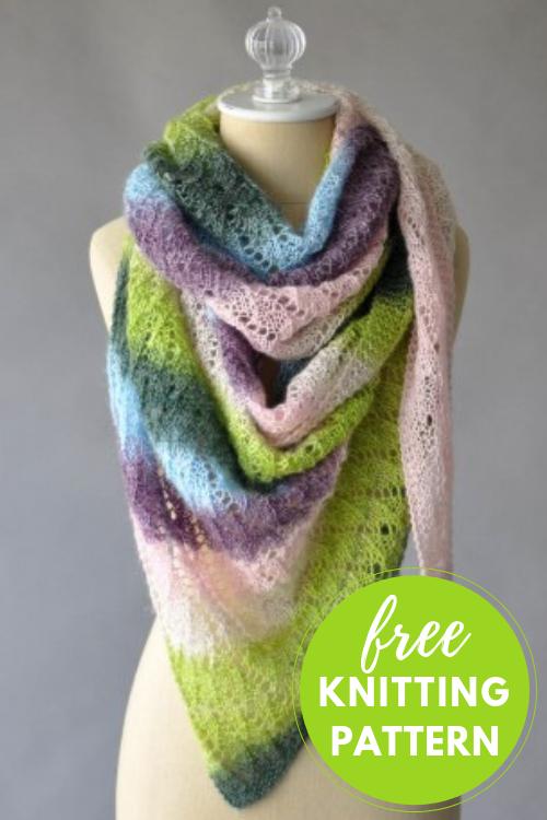 Arbuz Triangle Lace Shawl Free Pattern to Knit