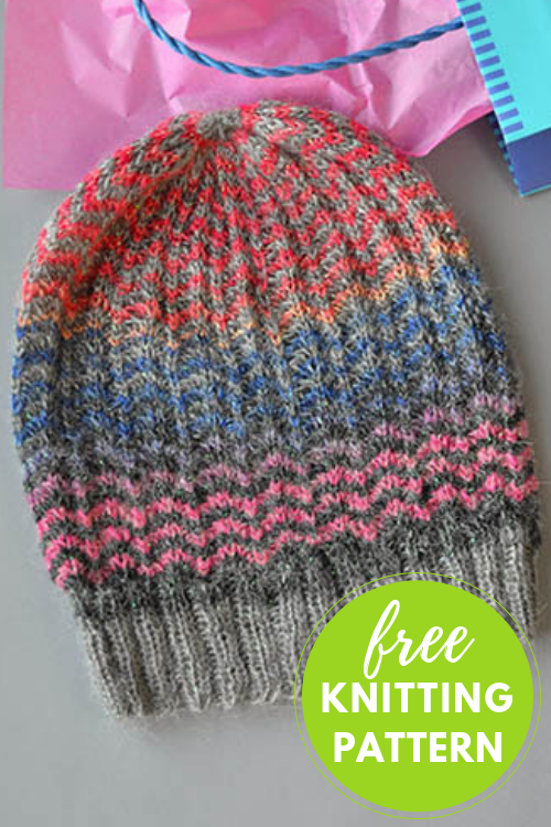 Ziggity Hat Free Knitting Pattern