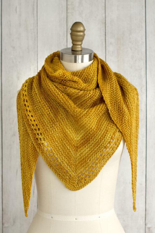 Onete Eyelet Shawl Free Knitting Pattern