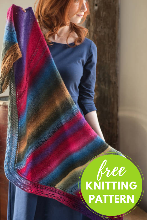 Free Shawl Knititng Pattern - 2 Skein Project