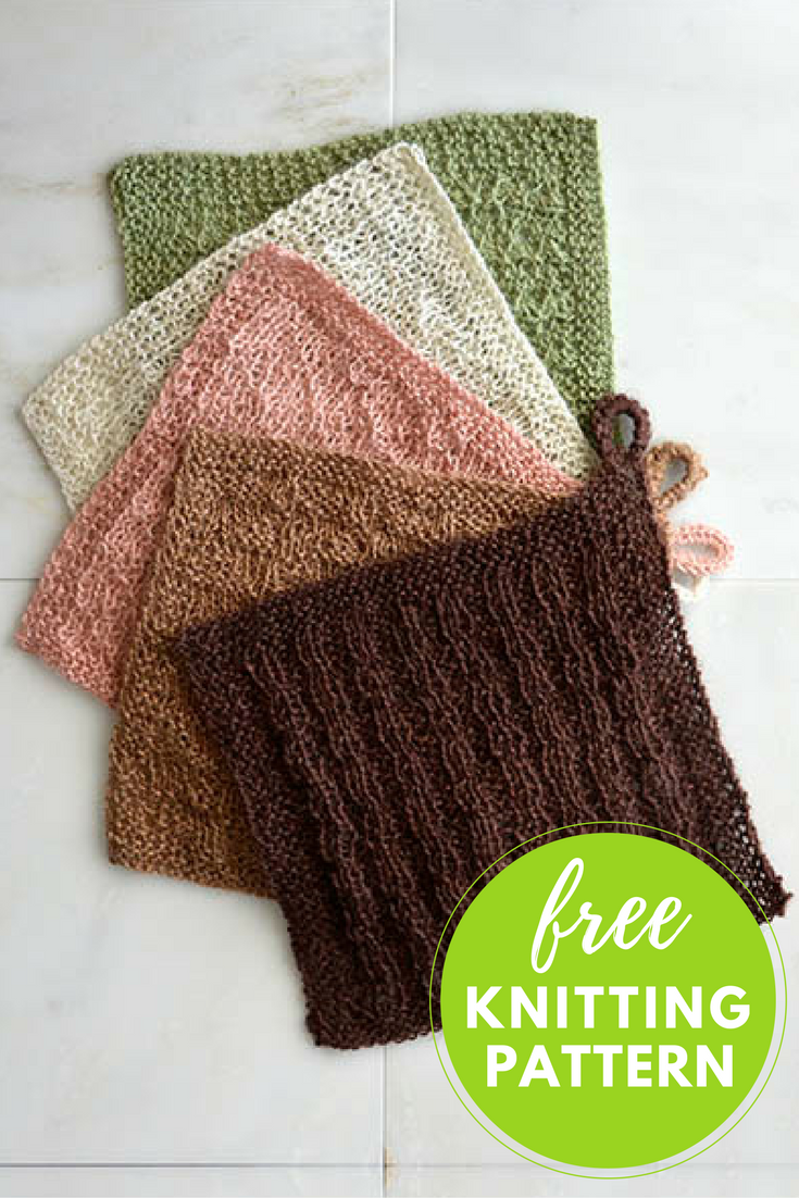 Easy Wash Cloths Free Pattern to Knit