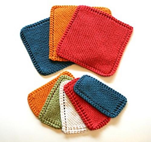 Beginner's Washcloth Free Knitting Pattern