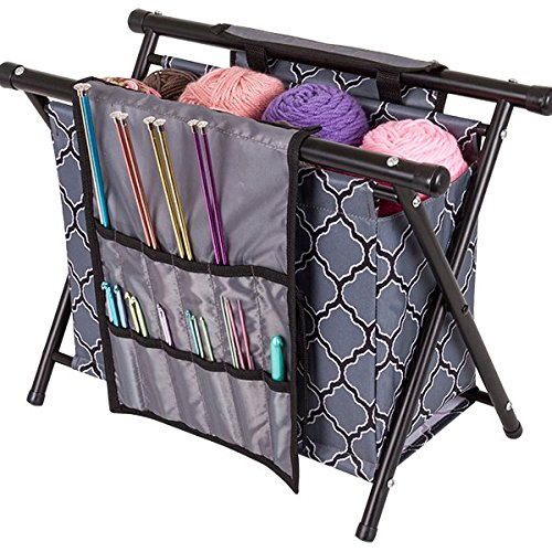 ArtBin Yarn Caddy with Needle Holder and Notions Attachments
