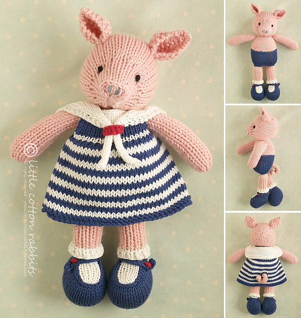 Cute and Cuddly Pig Knitting Patterns
