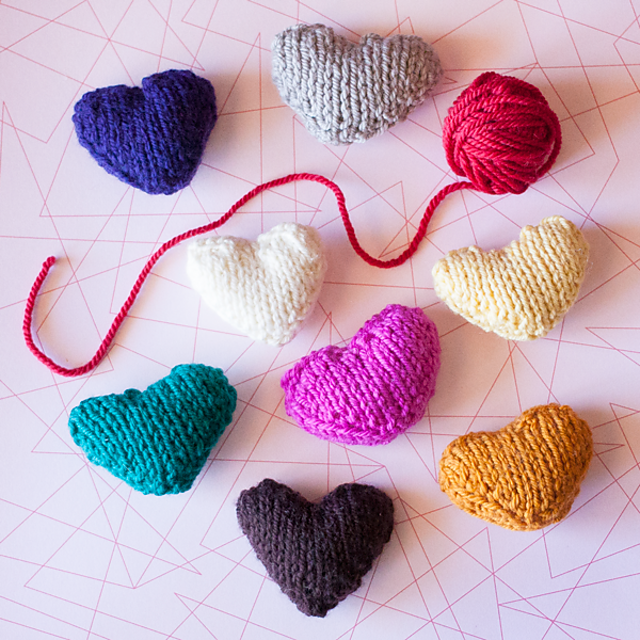 Tiny Heart Knitting Patterns to Cast On Now!