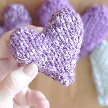 Free Tiny Heart Knitting Patterns