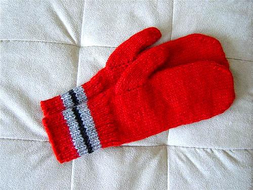 Beginner Mittens Knitting Patterns on Two Needles