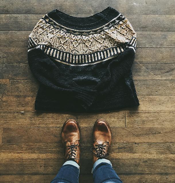 Top Down Seamless Raglan Sweater Knitting Patterns