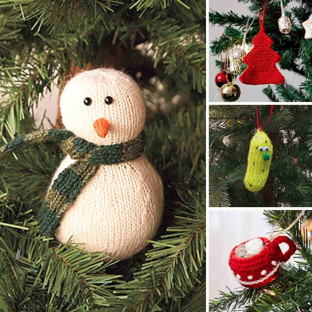 free knitting patterns for christmas decorations