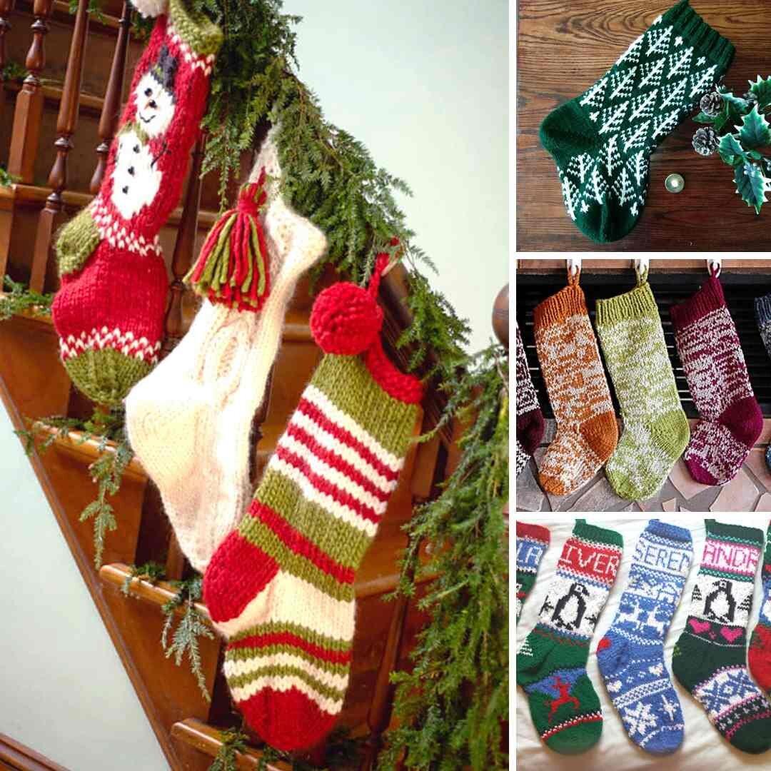 Crochet Stocking Holiday Decoration Holiday Stocking Custom Stocking Christmas Decor Christmas Stocking Crochet Christmas Stocking