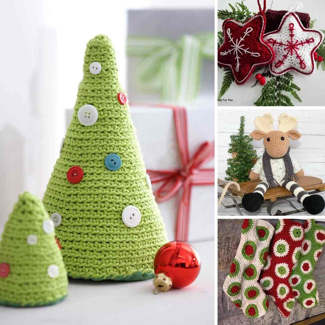Amigurumi Pattern for Crochet Snowman with Christmas tree | 1080x1080