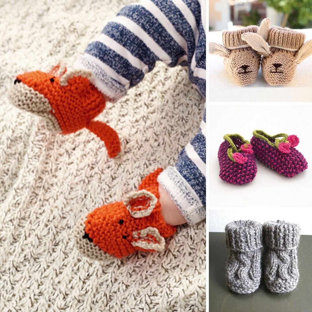 10 Cutest Baby Booties Free Knitting