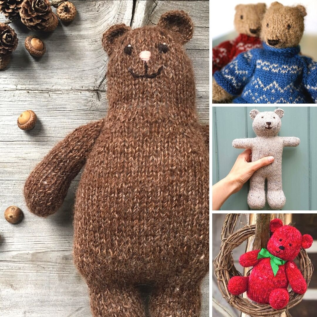 "Knitting Pattern For Teddy Bear In Pyjamas /& Dressing Gown 14/"" In Height"