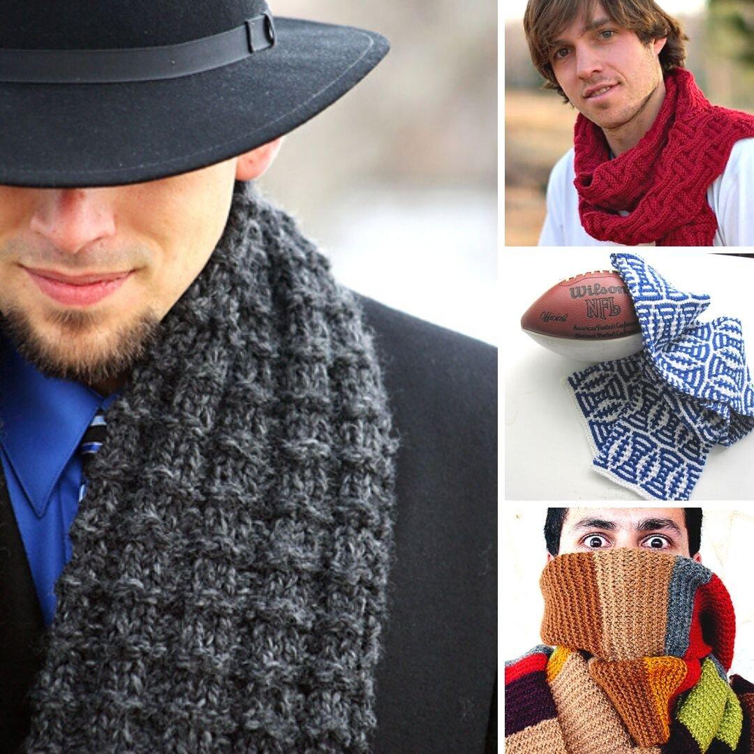 10 Men's Scarf Free Knitting Patterns — Blog.NobleKnits
