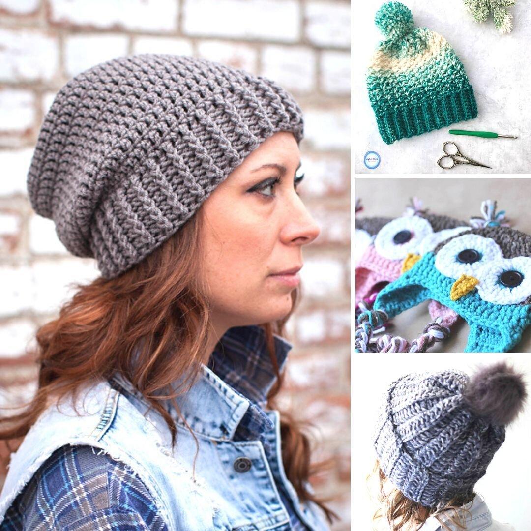 Easy Aran Knitting Pattern /'Acqua Fluff/'  Womens Slouchy Hat