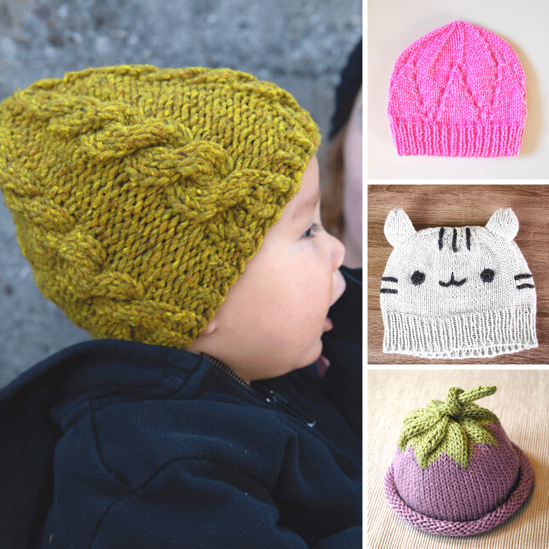 chunky knit baby hat pattern free