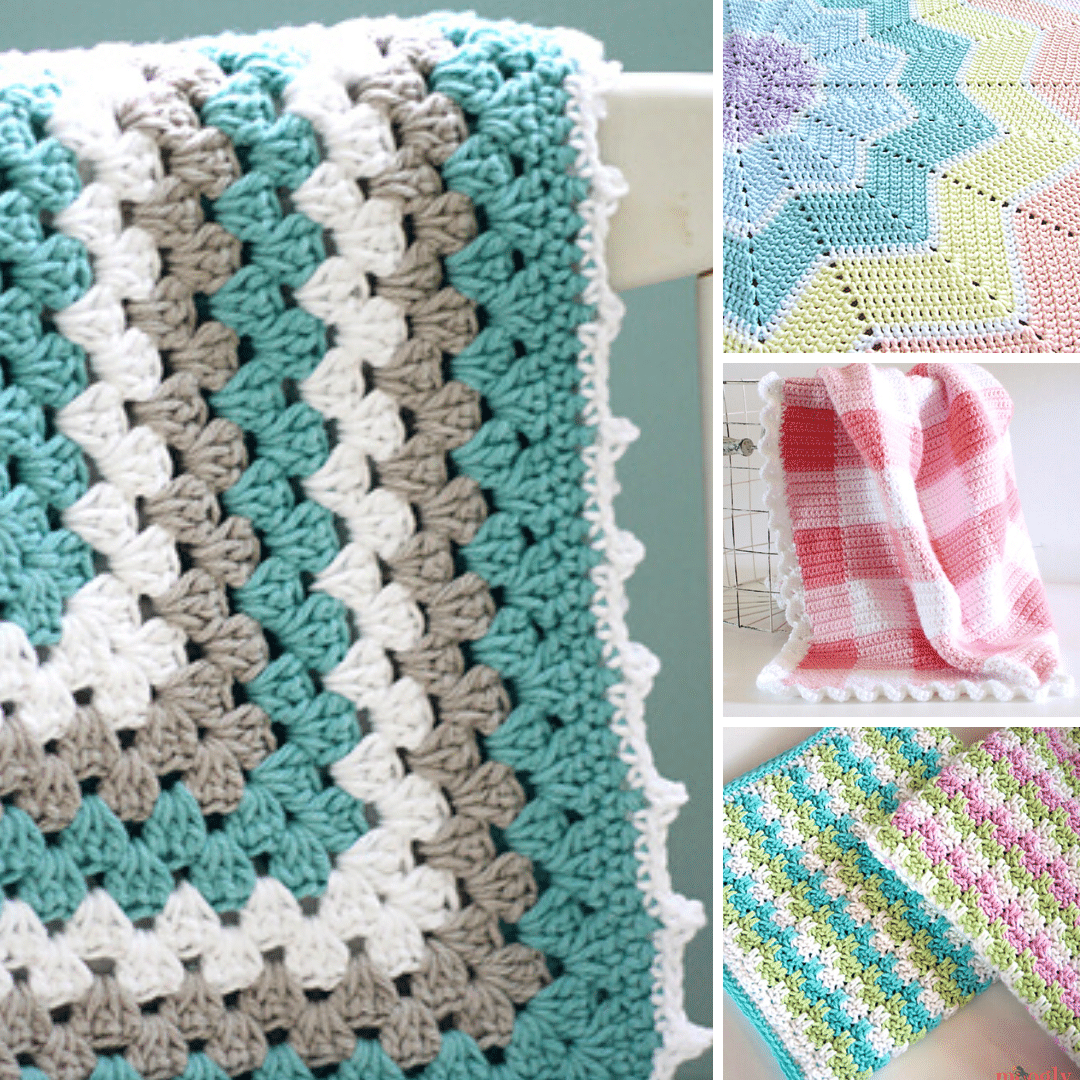 """Pattern only Lovely baby crochet shawl measures 36/"""" when complete"""