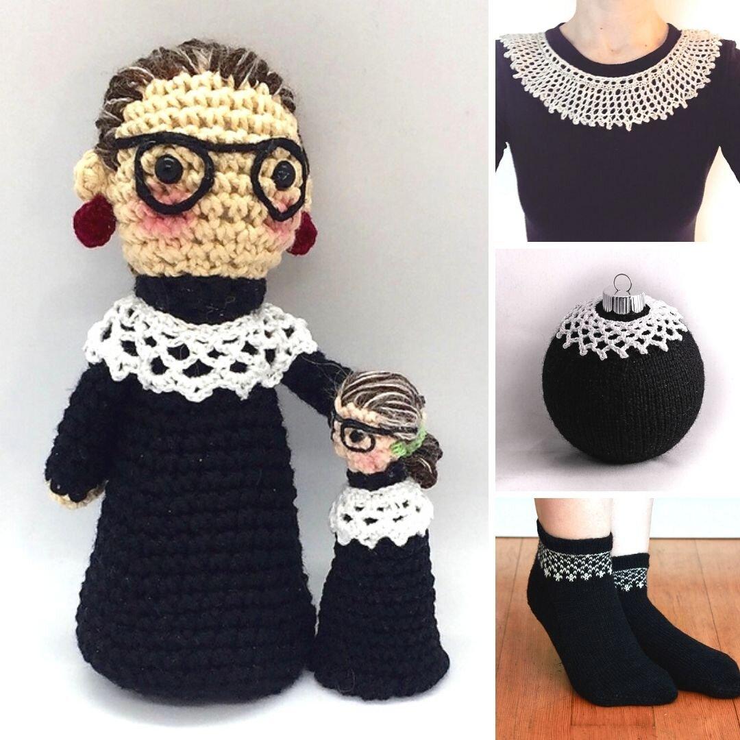 Ruth Bader Ginsburg Inspired Knit And Crochet Patterns Blog Nobleknits