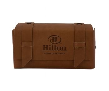 Leather dopp bag -