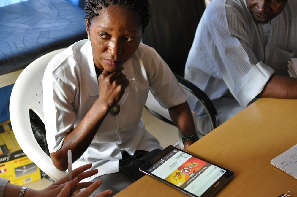Prototype Testing the Digital Library at Health Clinics in Abuja, Nigeria