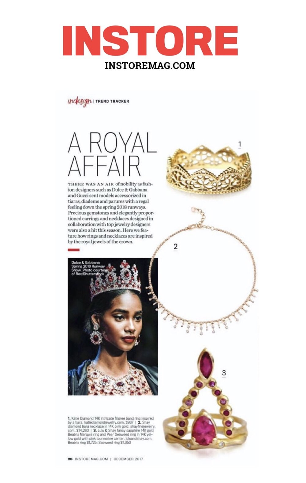 Instore Magazine A Royal Affair