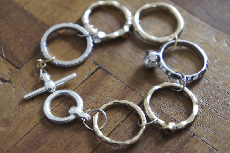 Mixed Metal Ring Bracelet
