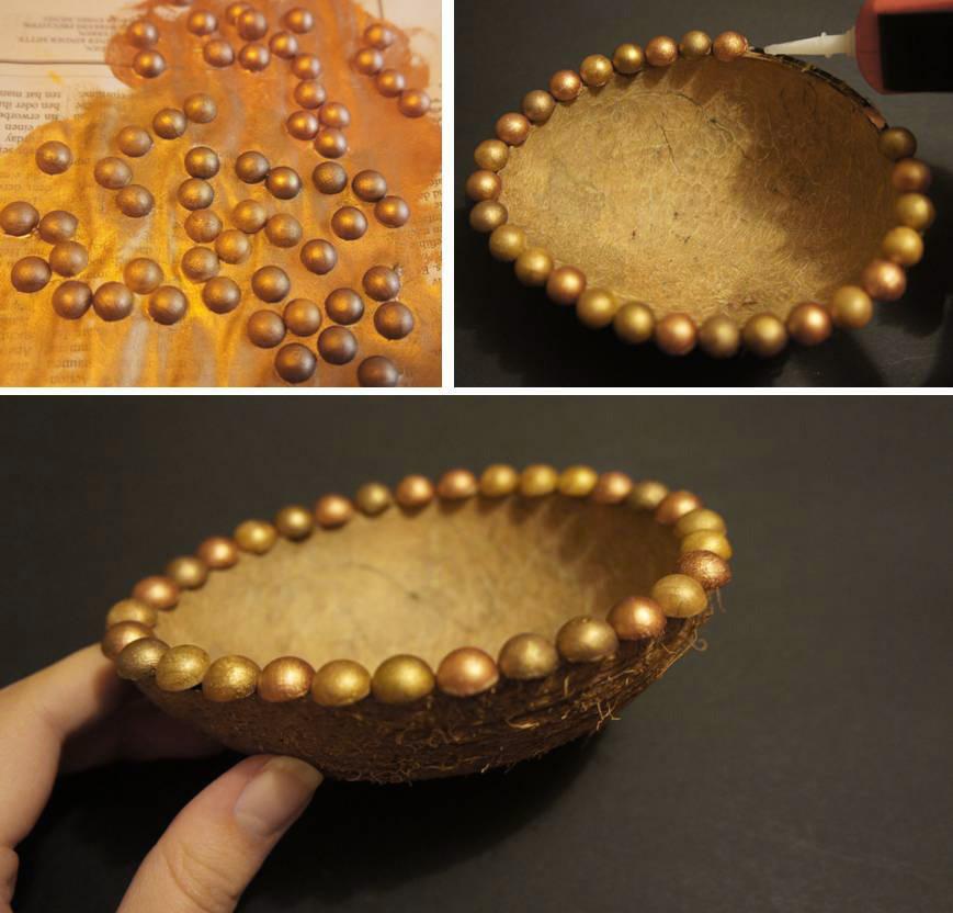 Diy Coconut Jewellery Holder Anuschka Rees