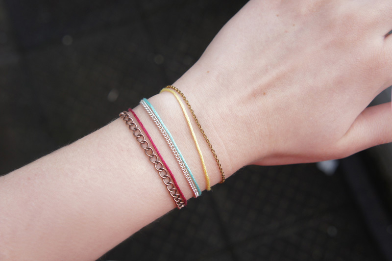 DIY: Delicate Thread Bracelets 1