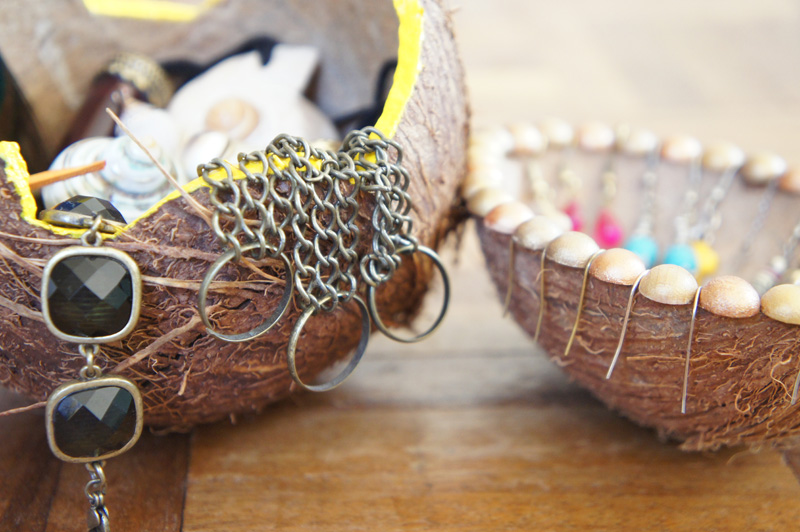 Coconut Jewellery Holder