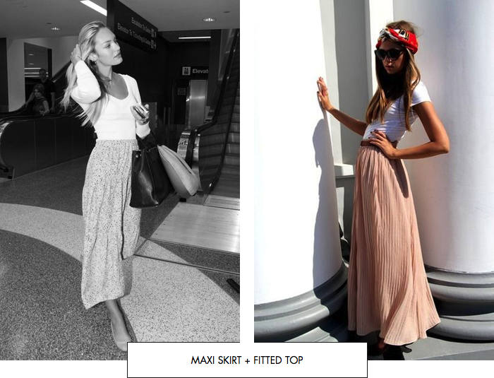 Maxi skirt + fitted top