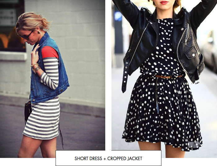 Short dress + cropped jacket