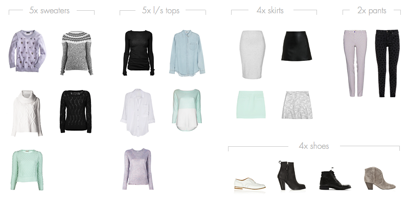 20-piece Winter Capsule Wardrobe