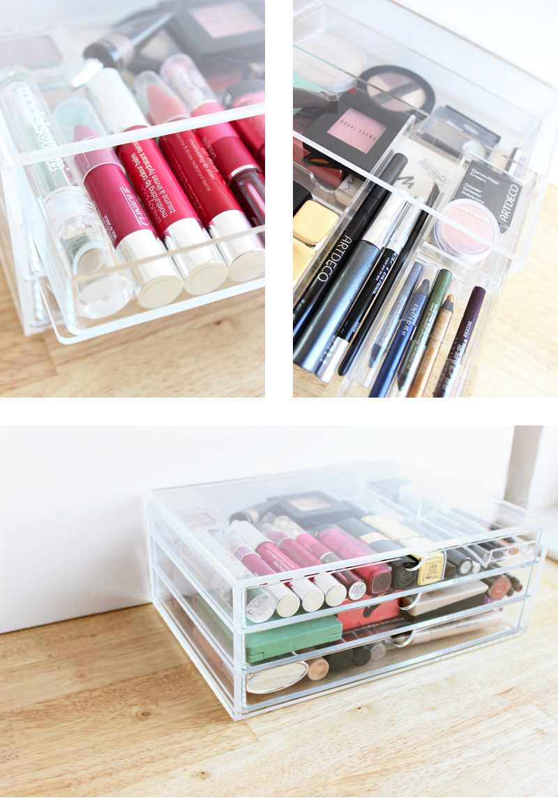 Storing Make up 101: Acrylic Drawers