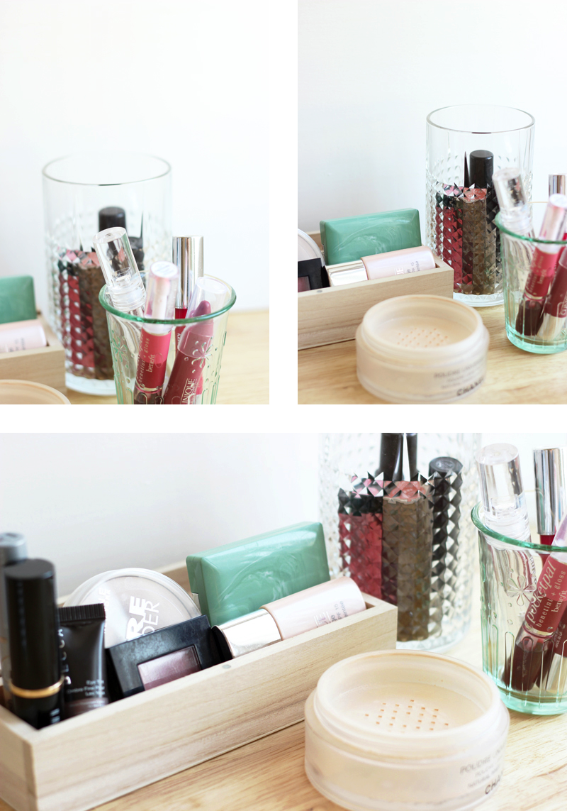 Storing Make up 101: Assorted pretty containers